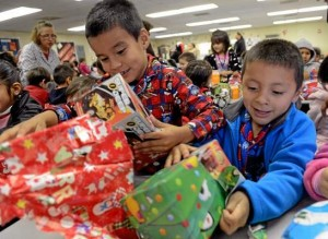 Children Opening Gifts